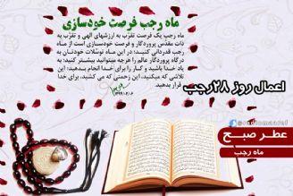 عطر صبح – ماه رجب – اعمال روز 28 رجب