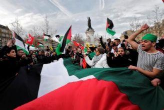 تظاهرات ضدصهیونیستی و آمریکایی در پاریس