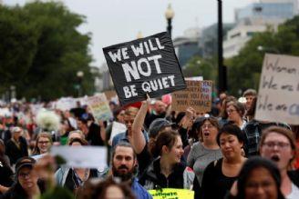 معترضان آمریکایی خطاب به ترامپ: ننگت باد