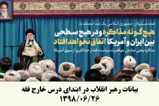 بیانات رهبر انقلاب در ابتدای درس خارج فقه   1398/06/26