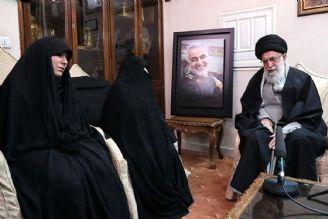 گفتوگوی رهبر انقلاب با خانواده شهید سردار قاسم سلیمانی