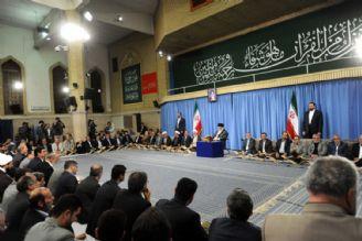 رهبر معظم انقلاب اسلامی در محفل نورانی انس با قرآن کریم