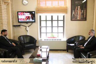 دیدار قائم مقام شورای هماهنگی تبلیغات اسلامی با مدیر رادیو معارف